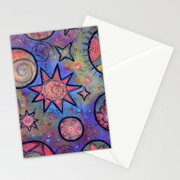 Sending Love and Healing Light Celestial Design Stationery Cards