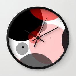 Circle Series - Red Wall Clock