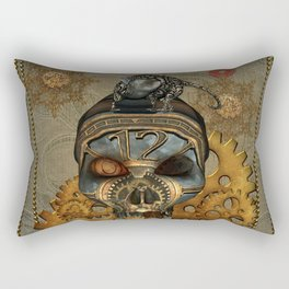 Steampunk, awesome steampunk skull with steampunk rat Rectangular Pillow