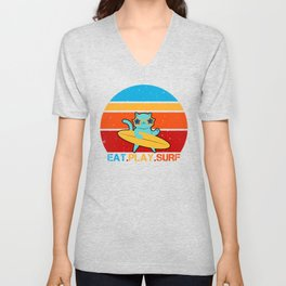 Eat Play Surf Unisex V-Neck