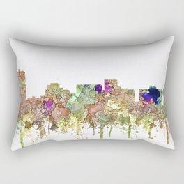 Arlington, Texas Skyline - Faded Glory Rectangular Pillow