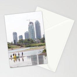 St. Patrick's Island river scene Calgary Stationery Cards