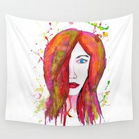 valentina Wall Tapestries featuring Valentina by Laurie Art Gallery