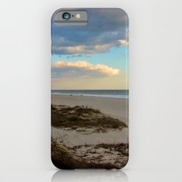 Clouds Over Holden Beach iPhone Case