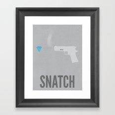 Snatch Minimalist Poster Framed Art Print