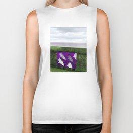 violet sharks Biker Tank