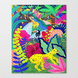 Jungle Party Animals Canvas Print