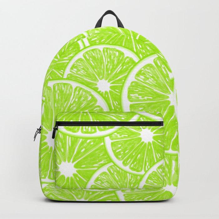 Lime slices pattern Backpack