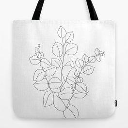 Minimalistic Eucalyptus  Line Art Tote Bag