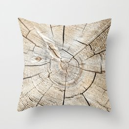 Wood Cut Throw Pillow