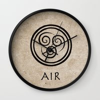avatar the last airbender Wall Clocks featuring Avatar Last Airbender - Air by bdubzgear