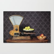Apples on the Scale Canvas Print