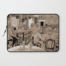 Three Bags Full Cafe Laptop Sleeve