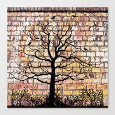 Graffiti Tree Canvas Print