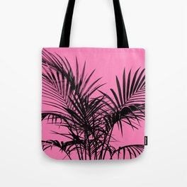 Little palm tree in black with pink Tote Bag