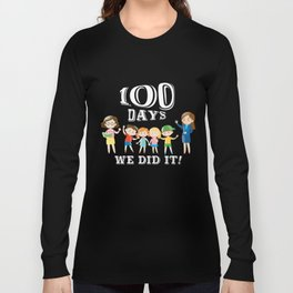 Teacher's Day T-Shirt Gifts 100th Day Of School Student Gift Long Sleeve T-shirt