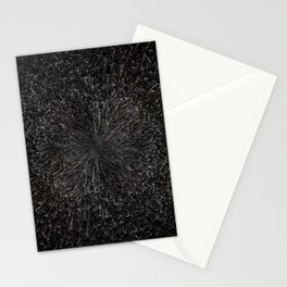 PLANET PIXEL BLACK ABYSS Stationery Cards