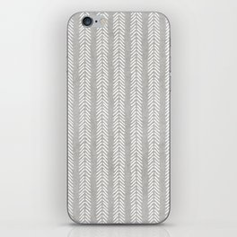 Mud cloth - Grey Arrowheads iPhone Skin