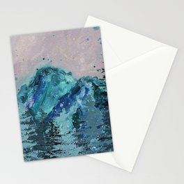 Mount Baker - Washington - Mountain Painting Stationery Cards