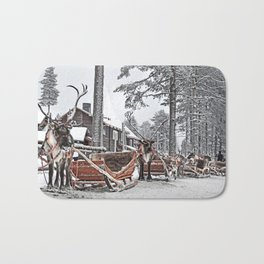 Reindeers Finland Bath Mat