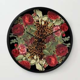 Ring Around the Leopard Wall Clock