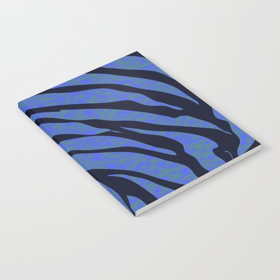 Blue ocean zebra  Notebook