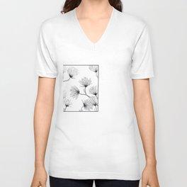 Flower Sketch Unisex V-Neck