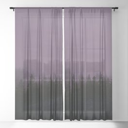 Alaska Fog 0388, EggPlant Sheer Curtain