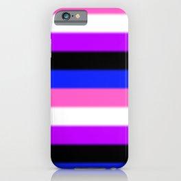 Genderfluid Pride Flag v2 iPhone Case