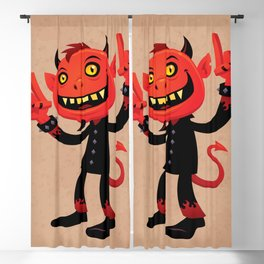 Heavy Metal Devil Blackout Curtain