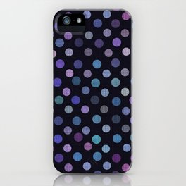 Retro Colored Dots Material iPhone Case