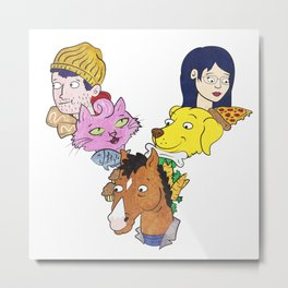 Bojack & Co Metal Print