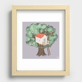 Treehouse Recessed Framed Print