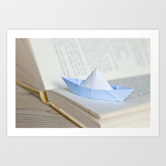 Little paper boat Art Print