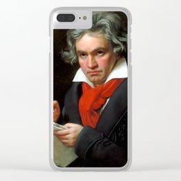 Ludwig van Beethoven (1770-1827) by Joseph Karl Stieler, 1820 Clear iPhone Case
