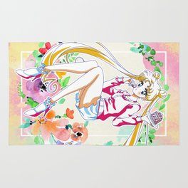 Strawberry Cake Watercolor Rug