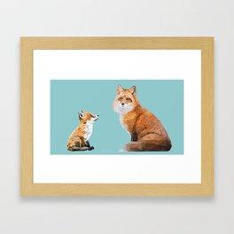 Fox Tenderness Framed Art Print