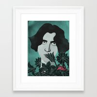 oscar wilde Framed Art Prints featuring Oscar Wilde by Phantasmagoria