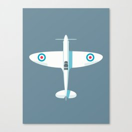 Spitfire WWII fighter aircraft - Slate Canvas Print