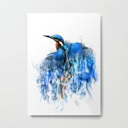 Smoking kingfisher Metal Print