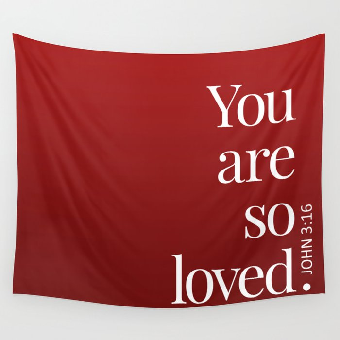 So Loved Wall Tapestry