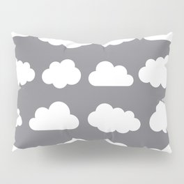 Grey clouds on grey winter skies Pillow Sham