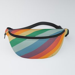Retro Rainbow Stripes Fanny Pack