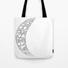 A Moon full of hearts Tote Bag