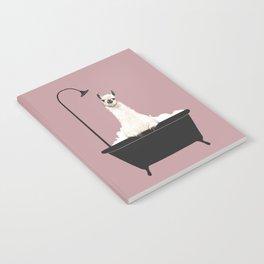 Llama in Bathtub Notebook