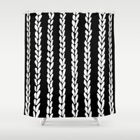 knit Shower Curtains featuring Knit 8 by Project M