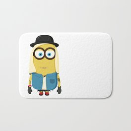 Hipster Girl Minion Bath Mat