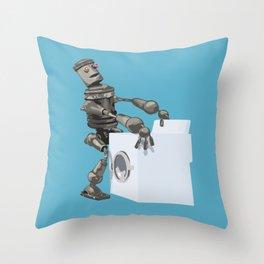 Hump bot Throw Pillow