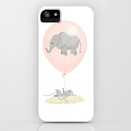 Elephant in a balloon iPhone Case