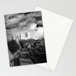 York Minster and walls in the sun Stationery Cards